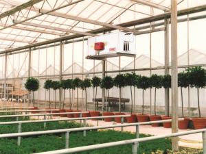 garden centre heating installation