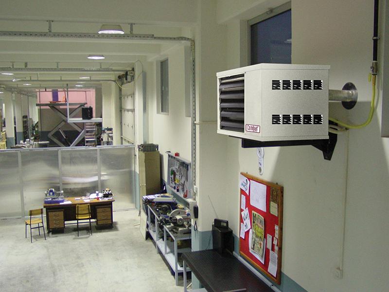 factory heating installation